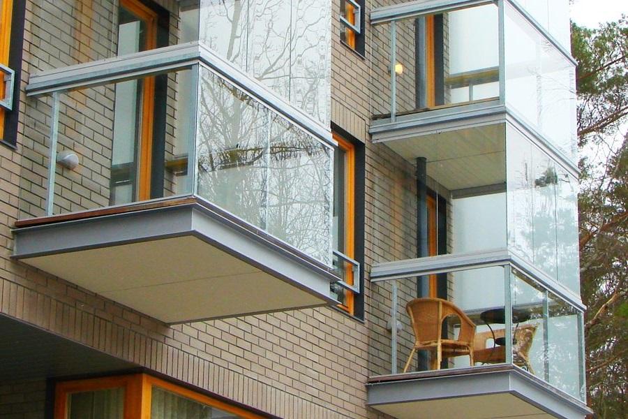 Французский балкон вид изнутри.